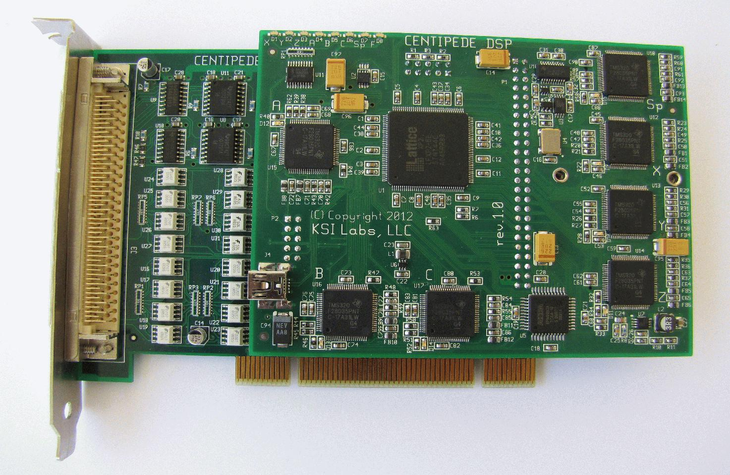 DSP-PCI assembly, top view 3