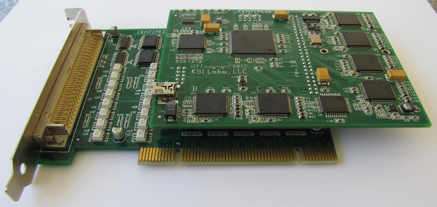 DSP-PCI assembly, top view 1