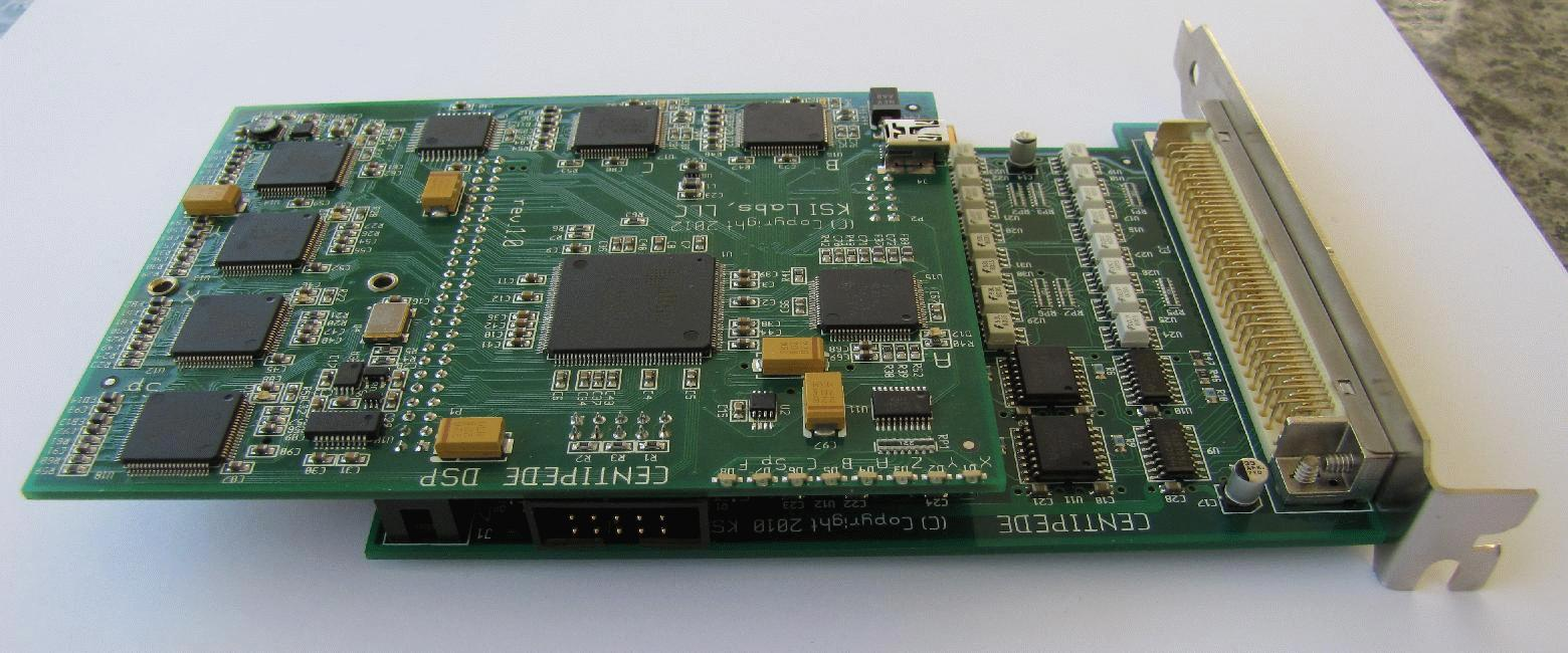 DSP-PCI assembly, top view 2